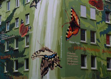 Schmetterlingshaus-Postkarte